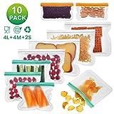 Godmorn Bolsas de Almacenamiento de Alimentos Reutilizables,Biodegradables,Bolsas de Congelación...