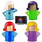 4 Piezas Limpiador de microondas, Desodorizante para Neveras, Angry Mama Limpiador Microondas,...