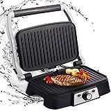 Aigostar Hitte 30HFA - Grill, parrilla, 1500 W de potencia, sandwichera y máquina de panini, 2...