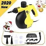 MLMLANT Vaporeta limpiador al vapor compacto de mano, 11 accesorios, 1050W, 350ML Adecuado para el...