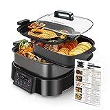 Taylor Swoden Arthur - Olla de cocción lenta, grill y vaporera.3 en 1, 1250W, multifunción,...