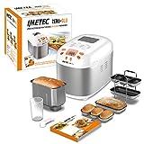 Imetec Zero-Glu - Panificadora, 20 Programas Pan y Dulces, sin Gluten, Accesorios para 3 Formas de...