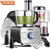 Decen Procesador de Alimentos, 1100 W Robot de Cocina, Tazón 3.5 L y Jarra Licuadora 1.5L, 3 Modos...