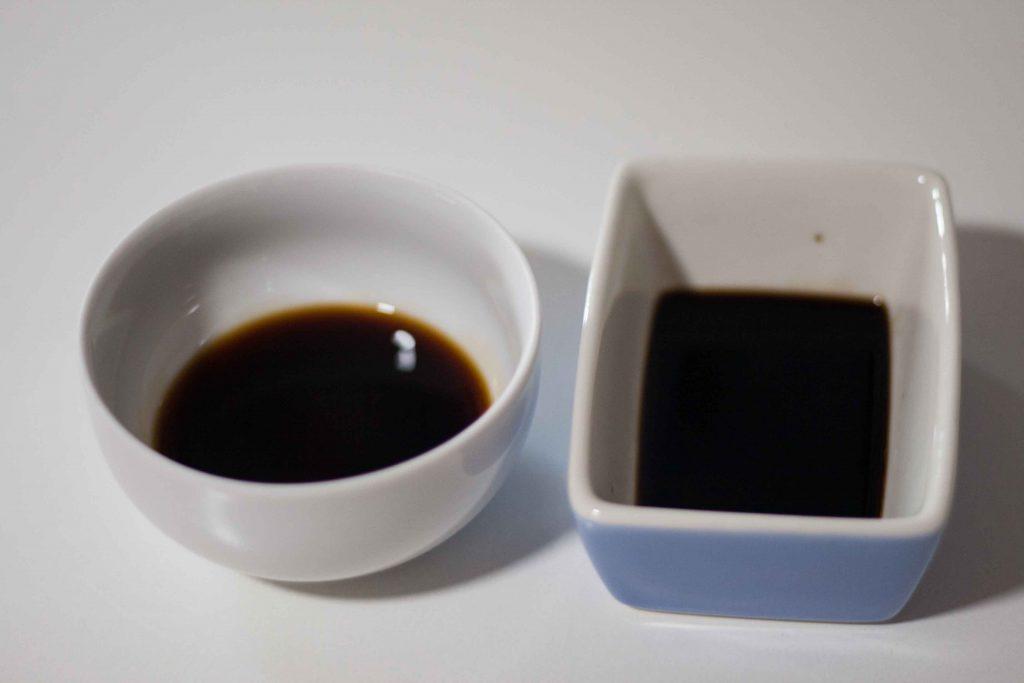 salsa de soja y vinagre