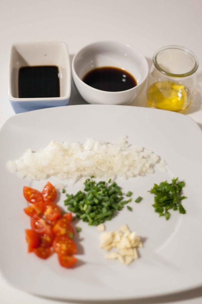 Ingredientes atún marinado