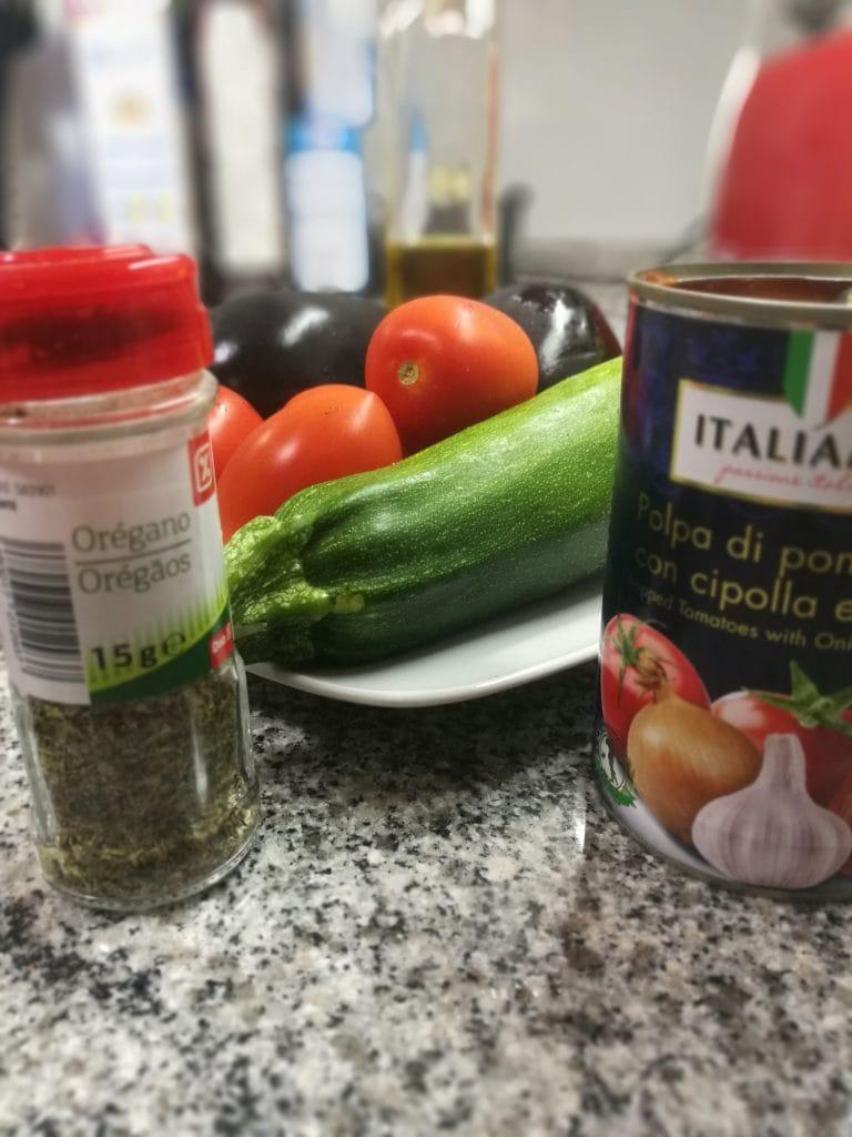 ingredientes ratatouille