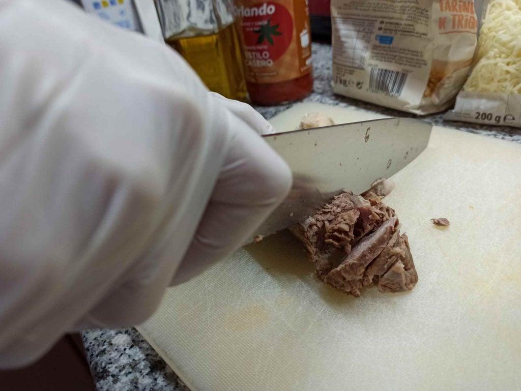 picar carne de cocido