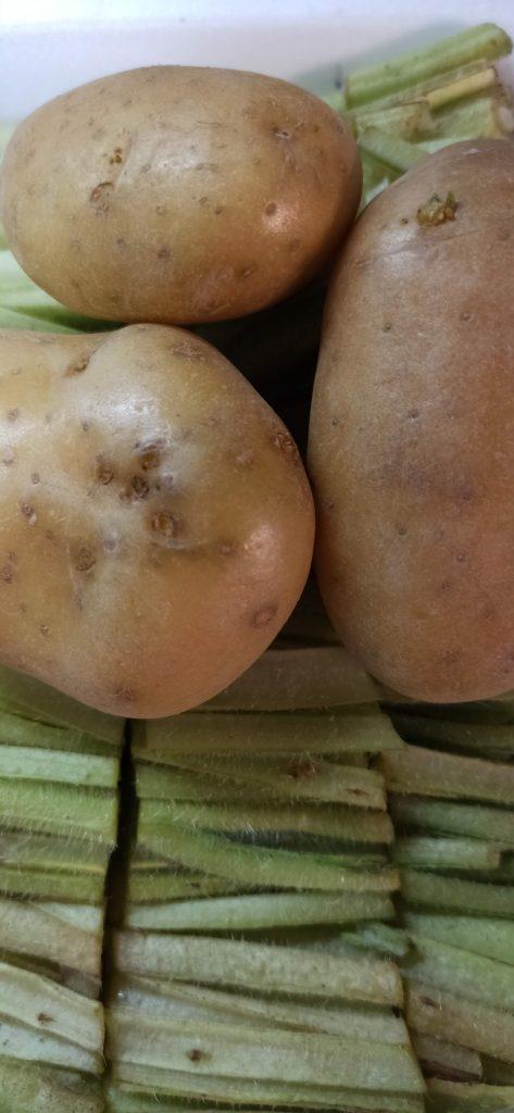 borraja y patatas