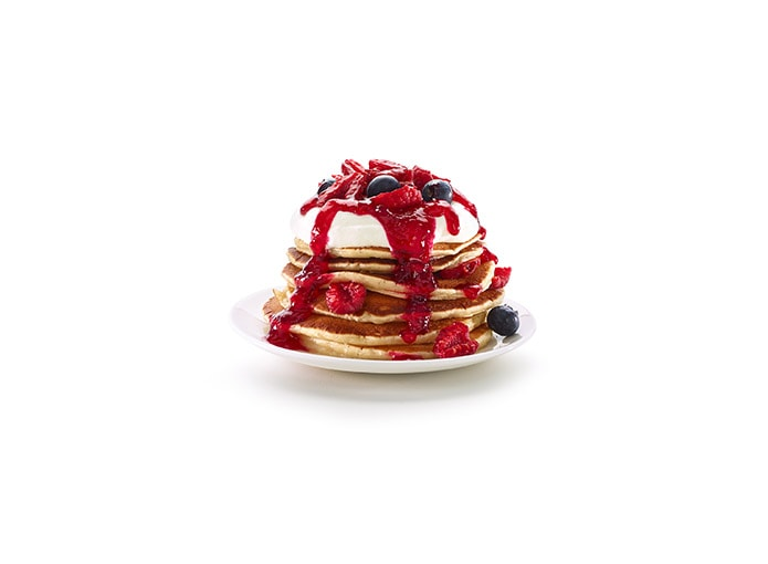 Pancake de ricotta y frutos rojos