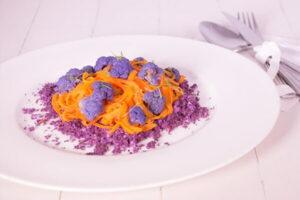 zanahoria y coliflor al vapor