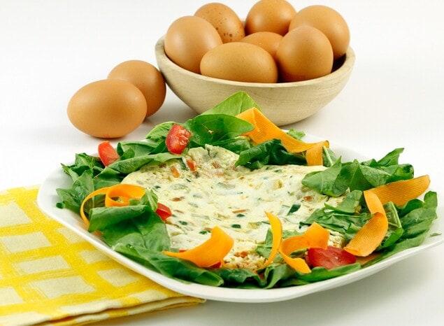 Tortilla hortelana de claras de huevo